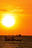 Sunset. Beyond the sea in Thailand Royalty Free Stock Photo