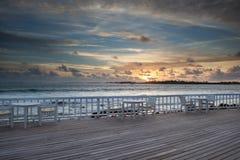 Sunset. At beach bar, malediven Royalty Free Stock Photography