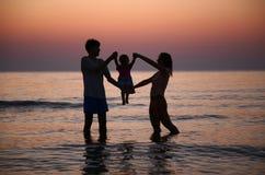 On sunset stock photo