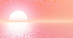 Sunset. Beautiful unusual sunset over a sea Stock Photo