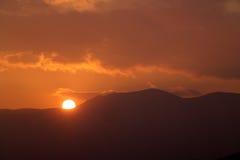 Sunset. Orange sunset Stock Image