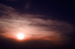 The  sunset. Royalty Free Stock Photo