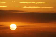 Sunset. In the sky of Provence (French Riviera Stock Images