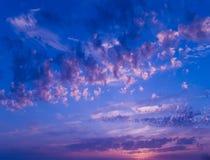 Sunset. Sky with beautiful clouds Stock Photos