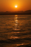 Sunset. At Red sea, Sinai peninsula stock images