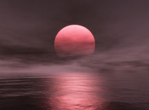 Sunset. This image shows a sunset over the ocean royalty free illustration