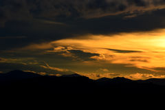 Sunset. A colored sky of a sunset royalty free stock photography