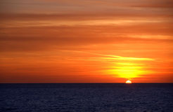 Sunset. On the Adriatic sea in september stock photography