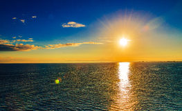 Sunset. Sea ocean sky and clouds, sunrise, sunset stock images