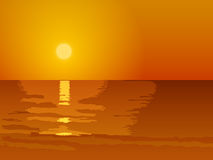 Sunset. Illustration Gold Sunset vector illustration