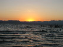 Sunset 4. Sunset on the sea of galilee royalty free stock images