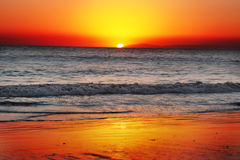 Sunset. Beautiful sunset captures in Orange county laguna beach Royalty Free Stock Photos