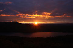 Sunset. Maine Sunset from cadillac mountain in acadia national park Royalty Free Stock Image