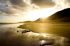 Sunset. Beach sunset on a summer afternoon in South Africa Stock Image