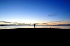 Sunset湖 免版税库存图片