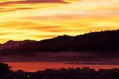 Sunset - 50 shades of orange Royalty Free Stock Photo