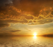 Sunset. Clouds in the evening sky Stock Image