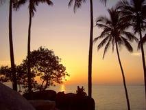 Sunset. India, Goa Royalty Free Stock Photo