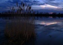Sunset. Gyoparos lake stock photography