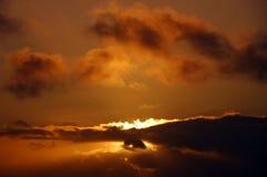 Sunset. Golden sunset in San Fransisco Royalty Free Stock Image