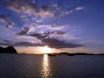 Sunset. In Langkawi Island creates a very romantic mood stock photography