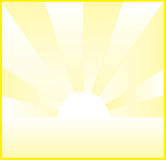 Sunset. A vector illustration of yellow sunset Royalty Free Stock Photography