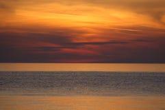 Sunset. In Adriatic sea Stock Photos