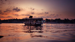 Sunset. Colorful sunset on Nile. taken on a cuise on Nile, Egypt Stock Photos
