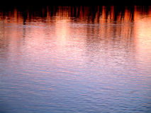 Sunset. On the water stock images