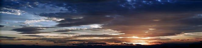 Sunset. Cloudy sunset stock photography