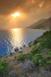 Sunset. Dramatic sunset over the sea Stock Photo