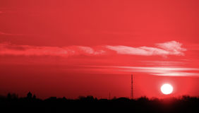Sunset. Red sunset Royalty Free Stock Photos