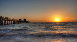 Sunset. Naples florida pier sunset Royalty Free Stock Image