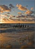 Sunset. Baltic clouds coast kurseme red sand sea sunset venspils waves Latvia Latvija Royalty Free Stock Images