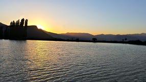 Sunset湖 库存照片