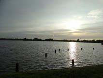 Sunset湖 免版税图库摄影