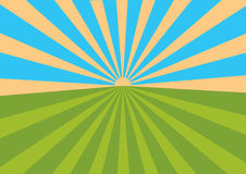 Sunset. Abstract Background Vector Illustration Stock Photography