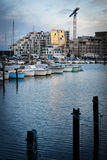 Sunset in Aarhus Harbor, Denmark Stock Photos