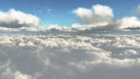 Sunset above the clouds Royalty Free Stock Photography