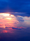 Sunset above clouds Royalty Free Stock Photos