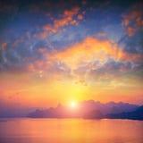 Sunset above Crimea Stock Photo