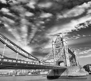 Sunset above famous Tower Bridge - London Royalty Free Stock Photos