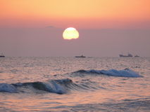 Sunset above mediterranean sea Stock Image