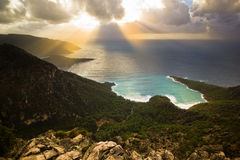 Sunset above the Mediterranean Sea Stock Photo