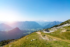 Sunset above the mountains in Austria Royalty Free Stock Images
