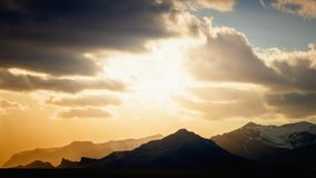 Sunset above mountains Royalty Free Stock Images