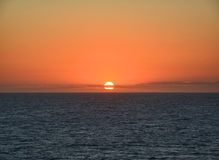 Sunset above ocean Royalty Free Stock Photography