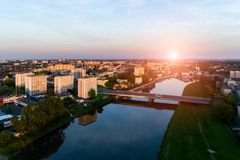 Sunset above Opole Stock Photos