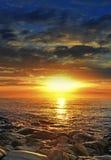 Sunset above sea Stock Image