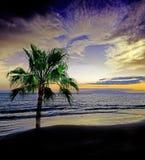 Sunset above sea Royalty Free Stock Photos